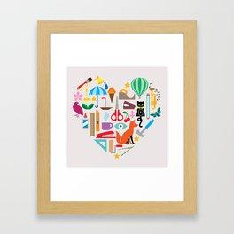 Heart It Framed Art Print