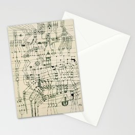 """Paul Klee """"Drawing Knotted in the Manner of a Net"""" Stationery Cards"""