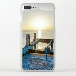 Lonely Dock Clear iPhone Case
