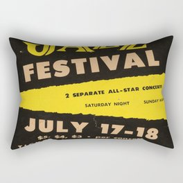 1954 Newport Jazz Festival Billie Holiday Casino Advertisement Poster Rectangular Pillow