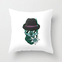 Hip Skull Throw Pillow