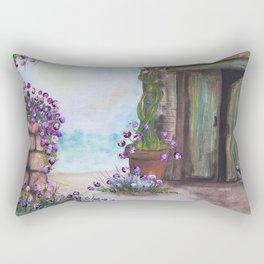 The Green Door Rectangular Pillow