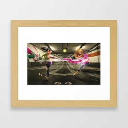 Turf Wars Framed Art Print