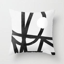 Lines brush movement minimal Throw Pillow