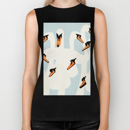 Swans are swimming Biker Tank