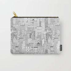 City Doodle (white) Carry-All Pouch
