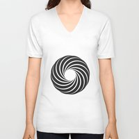 "vertigo V-neck T-shirts featuring ""Vertigo""  by D3LT4"