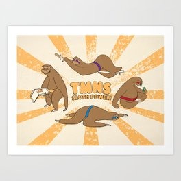 Teenage Mutant Ninja Sloths Art Print