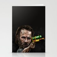 rick grimes Stationery Cards featuring Rick Grimes by Rob McElhaney