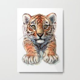 Playful Tiger Cub 907 Metal Print