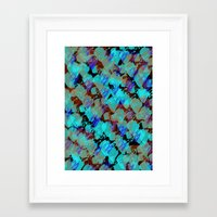 bianca green Framed Art Prints featuring Bianca by Gonpart
