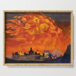 Nicholas Roerich - St Sophia The Almighty Wisdom - Digital Remastered Edition Serving Tray