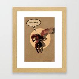 Last action hero Framed Art Print