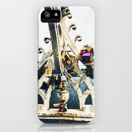 Love Locks on the Ha'penny Bridge iPhone Case