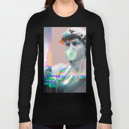 Vaporwave Glitch Long Sleeve T-shirt