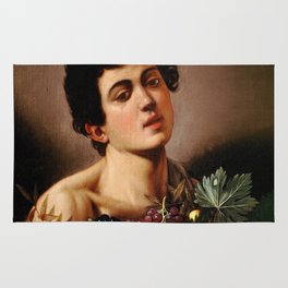 "Michelangelo Merisi da Caravaggio ""Boy with a Basket of Fruit"" 1593–1594 Rug"