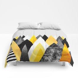 Yellow Peaks Comforters