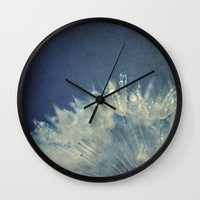 gem Wall Clocks featuring hidden gem by Bonnie Jakobsen-Martin