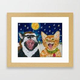 Th Catnip Singers Framed Art Print