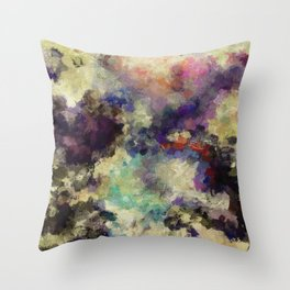 Contemporary Abstract Painting in Purple / Violet Color Throw Pillow