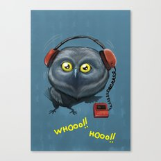 Hooting lesson Canvas Print