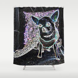 Chihuahua and Snakes Shower Curtain