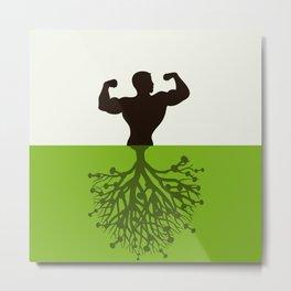 Sportsman a tree Metal Print