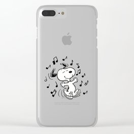 Dancing Snoopy Clear iPhone Case