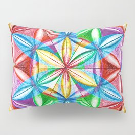 Shimmering Wheel - The Mandala Collection Pillow Sham