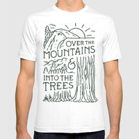 Over The Mountains Mens Fitted Tee SMALL White