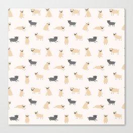 Pug Pattern Canvas Print