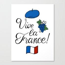 Vive la France! Canvas Print