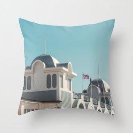 Summer Days at the Pier Throw Pillow