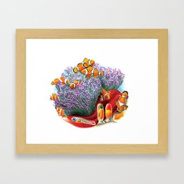 Clown Fish Life Cycle Framed Art Print