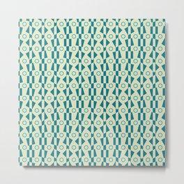 Synthia Modernist Circles Metal Print
