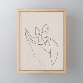 piquancy - one line figure - pastel Framed Mini Art Print