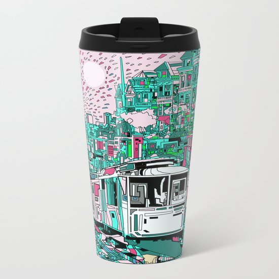 san francisco city skyline Metal Travel Mug