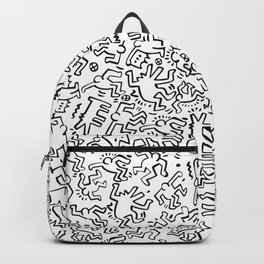 Figures Keith Haring White Backpack