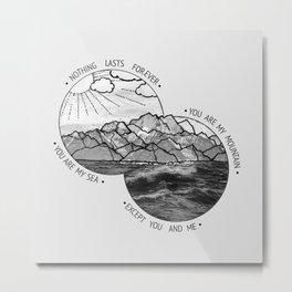 mountains-biffy clyro Metal Print
