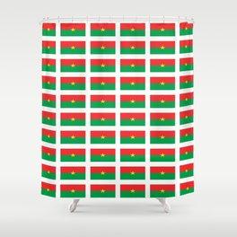 Flag of burkina faso- burkinabe,mossi,fula,ouagadougou,dioula,bobo-dioulasso,sahel,voltaic. Shower Curtain