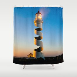 Twisted Lighthouse Shower Curtain