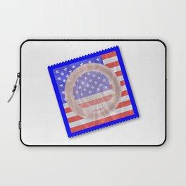Stars And Stripes Condom Laptop Sleeve