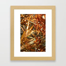 Copper and Metal Abstract Framed Art Print