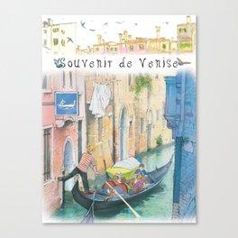 "Venice ""Gondola ride"" Canvas Print"