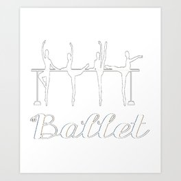 Ballerina Ballet Barre Pointe Shoe Art Print