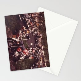 Parked Motorcycles Vintage Photograph Stationery Cards