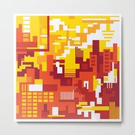 Abstract Sun Day Metal Print