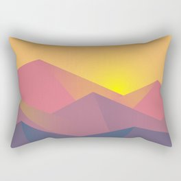 Mountain Sunset Illustration Rectangular Pillow