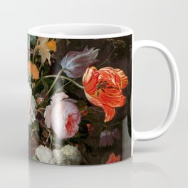 """Abraham Mignon """"Still Life with Flowers and a Watch"""" Coffee Mug"""