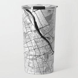 Warsaw Map Gray Travel Mug